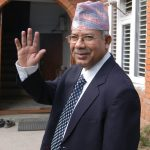 """Leader of Communist Party of Nepal (United Marxist Leninist) Madhav Kumar Nepal at his residence in Katmandu May 18, 2009. Nepal is likely form a new coalition government and replace current caretaker Prime Minister Pushpa Kamal Dahal """"Prachandra"""" after he received the backing of over 350 members of parliament from 22 parties. Post Photo/Shaligram Tiwari/Kantipur"""